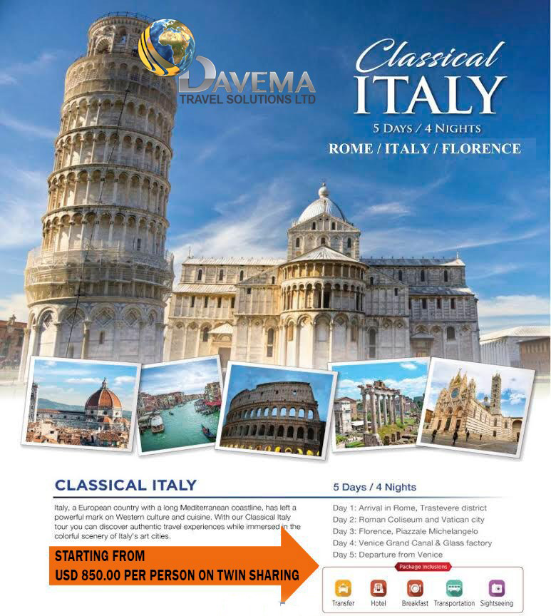 Classical Italy DAVEMA TRAVEL 2019 web