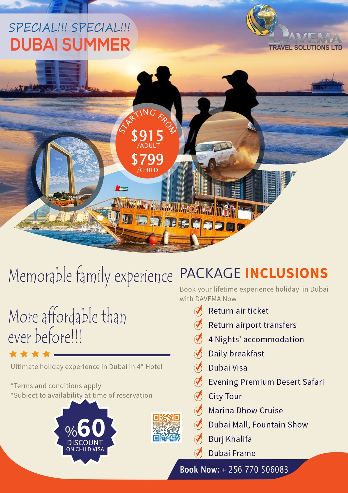 DAVEMA Travel Solutions DUBAI Summer Family Package Special Offer